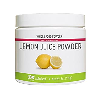 Nubeleaf Lemon Juice Powder - Non-GMO, Gluten-Free, Vegan Source of Antioxidants & Vitamin C - Rich Superfood for Cooking, Baking, Smoothies (6oz)