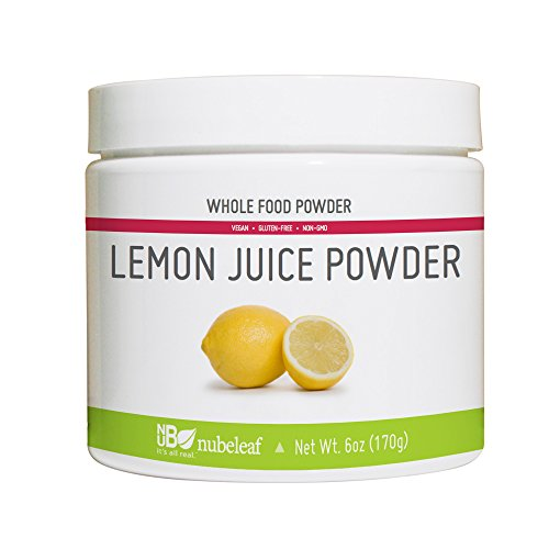 Nubeleaf Lemon Juice Powder - Non-GMO, Gluten-Free, Vegan Source of Antioxidants & Vitamin C - Rich Superfood for Cooking, Baking, Smoothies (6oz)