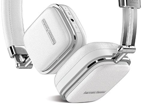 Harman Kardon SOHO White Premium, On-Ear Headset with Bluetooth Connectivity and Touch Control