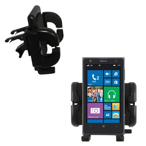 Gomadic Air Vent Clip Based Cradle Holder Car / Auto Mount suitable for the Nokia Lumia 1020