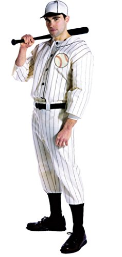 Old Baseball Player Costume (Rasta Imposta Mens Old Time Baseball Player Uniforms Theme Party Costume, Large (42-44))