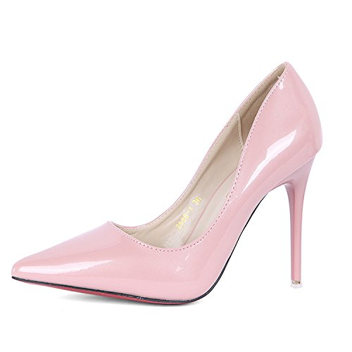 High Cymiu Pink Pump En Heels Mariage Toe Cuir Robe Fine Party Chaussure Ladies Femmes Pointed Crptqr