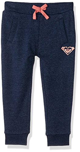 Roxy Girls' Little Sleep in Peace Fleece Sweatpant, Dress Blues, 5]()