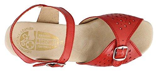 Sandal Low Heel Worishofer Women's Red 811 x04CFnYq