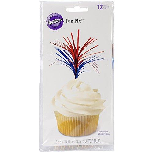 Patriotic Food - Wilton 2113-712 12-Pack Foil Fun Pix for Food Decoration, Patriotic