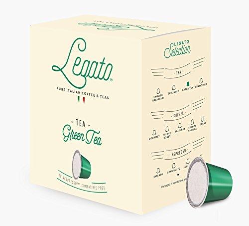 Legato Single Serve Tea Capsules – Nespresso Compatible (Green Tea)