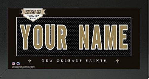 New Orleans Saints NFL Custom Jersey Nameplate Framed Sign