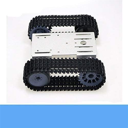 TP101 Métaux Smart Crawler Robot réservoir Châssis Kit avec 33GB-520 12V DC Moteur en Alliage d'aluminium Panneau de Bricolage for Arduino Toy (Color : Black)