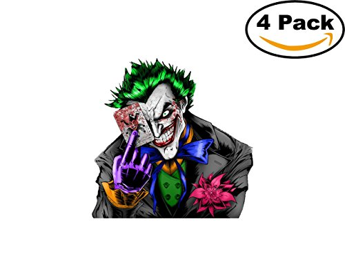 Joker 4 Stickers 4X4 Inches Car Bumper Window Sticker Decal 38