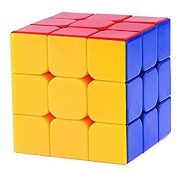 Fancy shoppee 3X3X3 High Speed Rubik Stickerless Magic Puzzle Cube