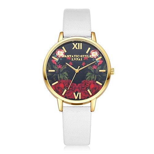 Rockyu ブランド 人気 レディース 女性 サファイアガラス 海外ブランド ホワイト 古典 レディース時計