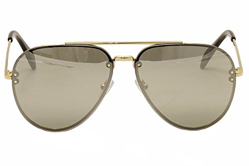 32745527de2 Celine Mirror CL 41391 J5G SS Gold Metal Aviator Sunglasses Silver ...