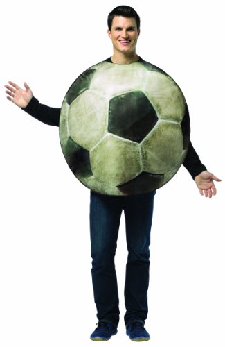 Rasta Imposta Get Real Soccer Ball, White/Black, One (Adult Get Real Soccer Costumes)