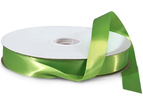 Kiwi Double Faced Satin Ribbon 7/8''x100 yds 100% Polyester (2 Spools) - WRAPS-DFS5548 by Miller Supply Inc