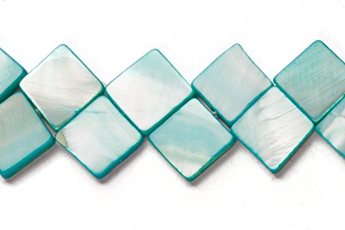 Blue Mother Of Pearl Mosaic - Powder Blue Mother-Of-Pearl Mosaic Shell Beads Size:10x10mm