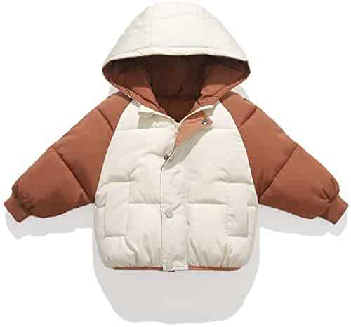 RACHAPE Big Boys Winter Hooded Down Coat Kids Camo Puffer Jacket Mid-Long Thick Outwear Padded Warm Snow Clothes