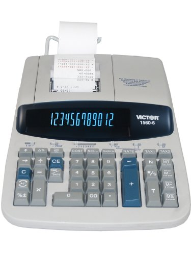 Victor 1560-6 Heavy-Duty Professional 12 Digit Printing Calculator by Victor