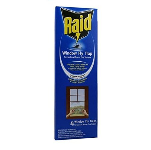 - Raid Window Fly Trap, 4 Count (Pack of 6)