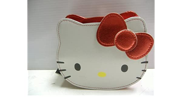 6f6235203e Amazon.com   Hello Kitty Pouch Cosmetic Pouch Face Die Cut with a Red Bow    Beauty
