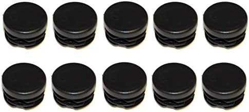 Bitray 1 Inch Round Plastic Plug Black Pipe Tubing End Cap,Wear-Resistant Foot Plug Durable Chair Glide Round Plug Cap Covers Protector,20 PCS
