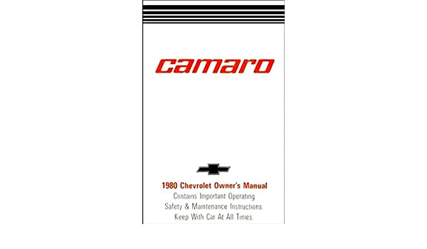 80 1980 Chevrolet owners manual
