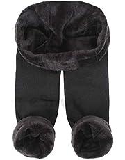 Trifolium Womens dames nieuwe thermische winter zwart dik bont fleece gevoerd Legging 10-20 7309