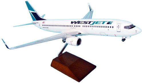 daron-skymarks-westjet-737-800-model-kit-with-gear-and-wood-stand-1-100-scale