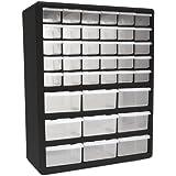 Homak 39-Drawer Parts Organizer, Black, HA01039001