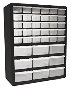 Homak HA Drawer Parts Organizer Black Parts Bin - Parts cabinets