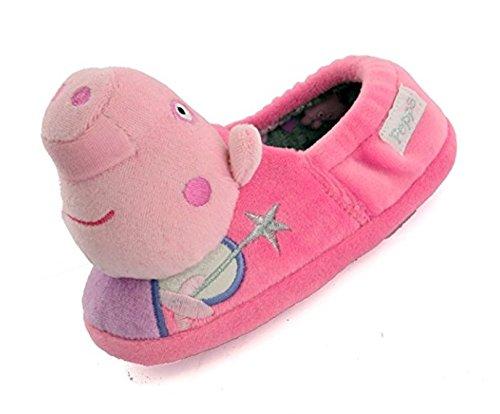 Peppa Pig - Zapatillas de Estar por casa para niña Rosa Rosa, Color Rosa,