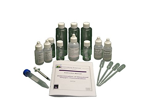 Oxygen Kit Test - Portable Dissolved Oxygen Concentration Water Testing Kit - Material for 40 Tests