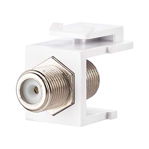 LINKOMM (5 Pack) F-Type Female to Female Barrel Keystone Jack Coaxial Connector, ()