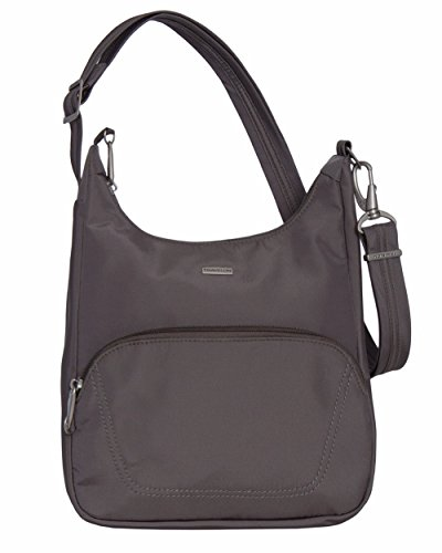 Travelon Anti-Theft Classic Essential Messenger Bag (Exclusive Colos - Grey)
