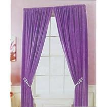 One Purple Violet Panel In Plush Velvet