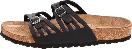Birkenstock Women's Granada Soft Footbed Sandal,Black Oiled Leather,39 N EU by Birkenstock (Image #5)