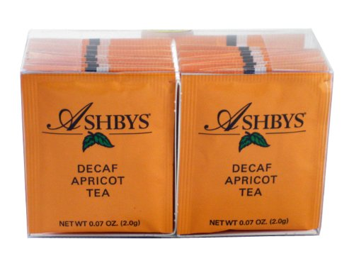 Ashbys Apricot Decaf Tea Bags, 20 Count Box