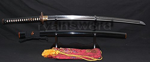 - Hand Made Japanese Clay Tempered Sanmai 1095 Carbon Steel+folded Steel Samurai Sword