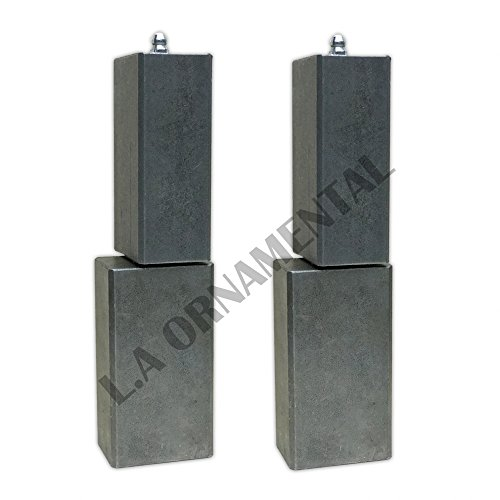 "7"" Heavy duty Steel Weld Square Gate Hinge Barrel Driveway ball bearing (Pair)"