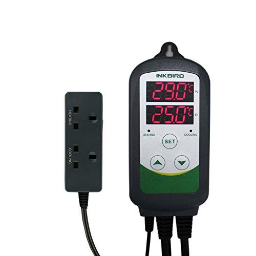 -[ Inkbird ITC-308 Digital Temperature Controller Thermostat Regulator UK Socket, Dual Relays 1 Hea