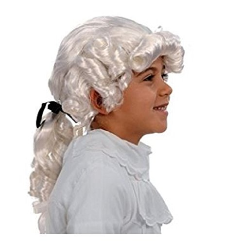 George Washington Colonial Costume Accessory White Wig