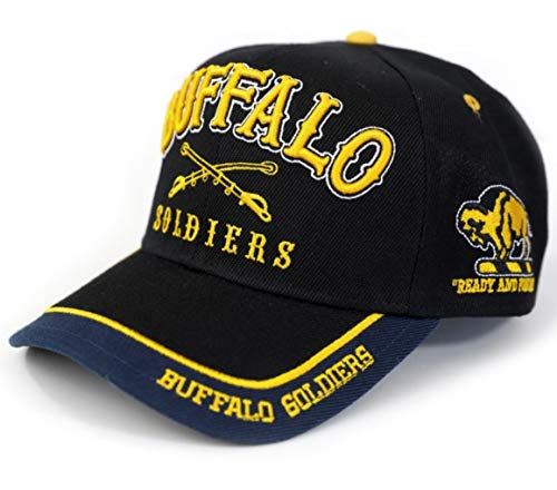 Buffalo Soldiers Ready and Forward Adjustable Cap - Soldiers Buffalo Cap