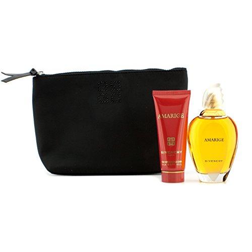 Givenchy Amarige Coffret: Eau De Toilette Spray 100ml/3.3oz + Silk Body Veil 75ml/2.5oz + Pouch 2pcs+1pouch ()