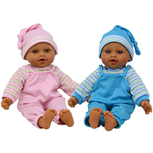 """Image of The New York Doll Collection 12"""" Sweet Hispanic Twin Dolls Play"""