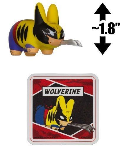 "Wolverine ~1.8"" Mini-Figure: Kidrobot x Marvel Labbit Series by Frank Kozik"