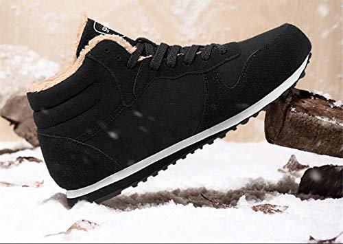 Invierno Caliente Algodón Hombres Gran Botas invierno Terciopelo Los Cuero Negro Bebete5858 De EYwOxqCT