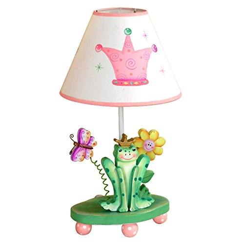 (Fantasy Fields - Princess & Frog Thematic Kids Table Lamp | Imagination Inspiring Hand Painted Details Non-Toxic, Lead Free Water-based Paint)