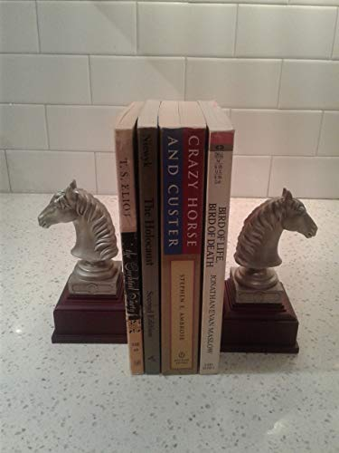 Schwantes Trading A Pair of Horse Book-Ends Made of Pewter ()