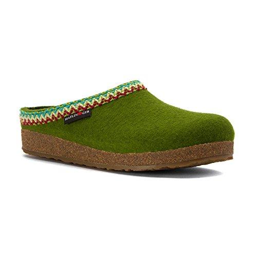 Haflinger Womens GZ Zig Zag Flat Green Awi3okL6Vb