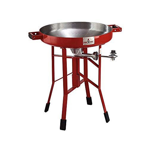 FireDisc – Deep 24″ Backyard Plow Disc Cooker – Fireman Red | Portable Propane Outdoor Camping Grill