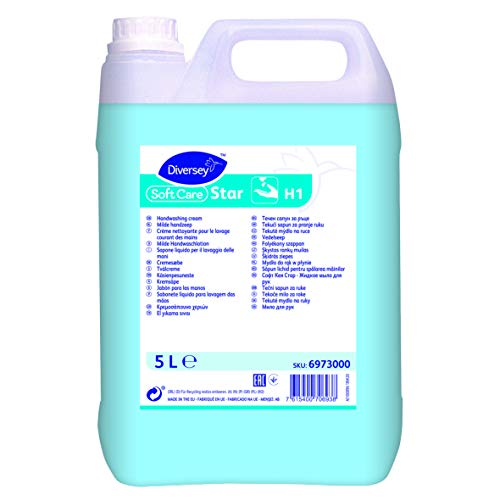 Soft Care 6973000 Star zeep, handwaslotion, jerrycan, 5 l, glanzend blauw